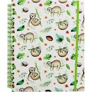 B5 Wiro Sloth Lined Notebook