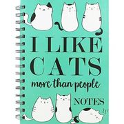 A5 Wiro I like Cats Lined Notebook