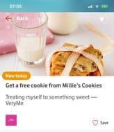 Free Millies Cookie VERYME Rewards