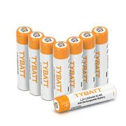 Save 40% off TYBATT AAA 1100mAh Rechargeable Batteries 8-Pack