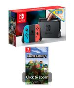 NINTENDO SWITCH NEON with £30 ESHOP CREDIT + MINECRAFT Only £289.99
