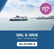Save 20% on Dover France Crossings