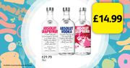 Absolut Vodka on Offer for Only £14.99!