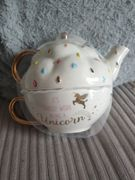 Unicorn Teapot and Cup for One