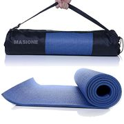 Masione Yoga Mat 6mm Thick Floor Exercise Mats Workout Fitness Pilates