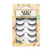 ALICE Fake Lashes Natural False Eyelashes 5 Pairs