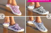 Womens Floral/Butterfly Beach Slip on Shoes 8 Designs!