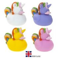 2x Unicorn Rubber Duck Bath Squirter