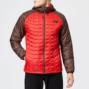 The North Face Men's Thermoball Sport Hooded Jacket - Rage Red/Bittersweet Brown