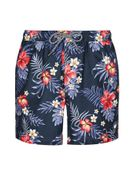 Navy Floral All over Print Swim Shorts