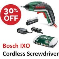 Bosch IXO Cordless Screwdriver, with 10 Screwdriver Bits & Case