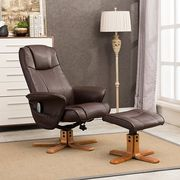 £135 off Monaco Swivel Recliner and Stool with Heat and Massage