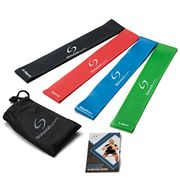 Set of 4 Resistance Bands with Exercise Guide