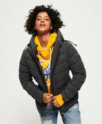 Womens Superdry SDX Arctic Hood Jacket Charcoal (XXS)