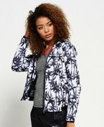 Womens Superdry Sport Mesh Insert Jacket Electric Palm Mono (Medium)