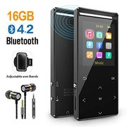 MP3 Player 16GB with Bluetooth, FM, Armband, Pedometer,