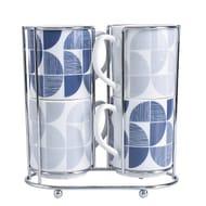 Geometrical Print Mug Stack Set of 4 FREE C&C