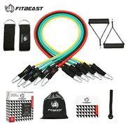Exercise Resistance Bands Set Fitness Stretch Workout Bands 11PC with Fitness
