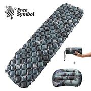 Inflatable Sleeping Mat Ultralight Sleeping Pad Camping Mattress with Pillow