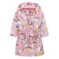 Mini v by Very Girls Unicorn Rainbow Dressing Gown - Pink