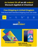 SmartX Direct UK Offering 3% an Instant Discount on All Electronics