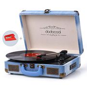 Vinyl Record Player, Dodocool Vintage Turntable 3-Speed with Blue Tooth