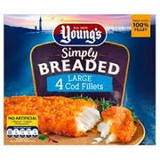 Youngs 4 Breaded Chunky Fish Fillets Farmfoods