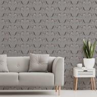 Glamorous Leopard Charcoal Wallpaper