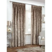 """Versailles Crushed Velvet Fully Lined Curtains 46 X 54"""""""