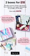 Birchbox - 2 Boxes for £10!