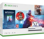 MICROSOFT Xbox One S with Battlefield v & Apex Legends Founders 1 TB £229.97