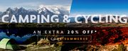 Extra 20% off Camping & Cycling at Ultimate Outdoors
