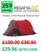 Festival Tent. WAS £100 THEN £39.95 NOW £29.96 with CODE!