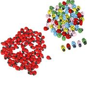 100 Wooden Ladybugs for Crafts + Free Delivery