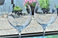 Win Engraved G&T Glasses