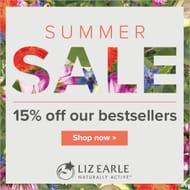 Liz Earle - Get 15% off Liz Earle Bestsellers in the Summer Sale