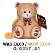Teddy Bear Tin (Walkers Mini Biscuits) Special Offer