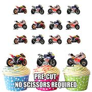 Moto Motorbike Cup Cake Toppers
