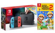 Best Price NINTENDO Switch Neon with £30 eShop Credit & Super Mario Maker 2