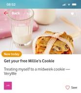 Free Millies Cookies VERYME Rewards