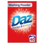 Daz Washing Powder Whites & Colours 40 Washes 2.6kg