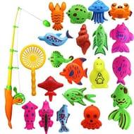 Minlop 22 Pcs Magnetic Fishing Toys Game Set