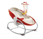 Tiny Love 3-in-1 Rocker Newborn Baby Bouncer with Recline, 0 Month +, Red