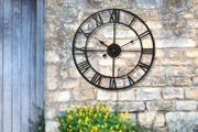 Vintage-Style Cast-Iron Outdoor Wall Clock - 3 Sizes! from £14.99
