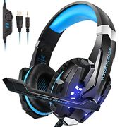 PS4 Headset, INSMART PC Gaming Headset Over-Ear Gaming Headphones