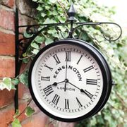 Outdoor Hanging Station Clock - Black NOW ONLY £6