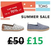 TOM'S 70% OFF! Last Chance