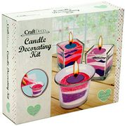 RMS Create Candle Decorating Gift Set Kit Ar Craft-Glass/Sand, Multi, Various