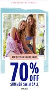 Up to 70% off Summer Swim Sale ONLINE ONLY