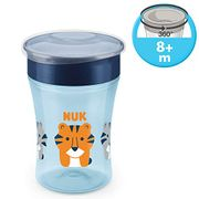 NUK Magic Cup Sippy Cup, 360 Anti-Spill Rim, BPA-Free, 8+ Months, 230ml